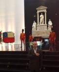 President Anton Caragea at Simon Bolivar Mousoleum inCaracas-web
