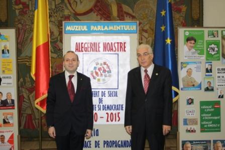 President Dr. Anton Caragea and Academician Mircea Constantinescu