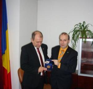 President Professor Anton Caragea receives honorary medal
