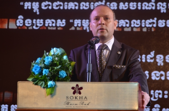 World Tourism Institution President-Professor Dr. Anton on the venue of WORLD BEST TOURIST DESTINATION ceremony